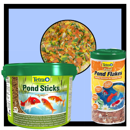 Pond Food - Sticks, Flakes, Pellets etc.